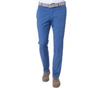 Herren Hose Chino Slim Fit Baumwoll-Stretch blau