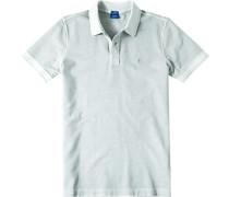 Herren Polo-Shirt Modern Fit Baumwoll-Piqué hellgrau meliert blau