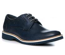 Schuhe Derby Leder dunkel