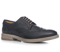Herren Schuhe Budapester Glattleder dunkel