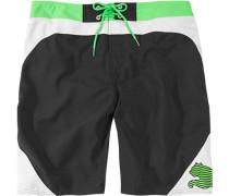 Herren Bademode Badeshorts, Polyester, schwarz-grün