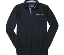 Herren Polo-Shirt Baumwolle marine