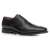 Herren Schuhe Oxford, Kalbleder, schwarz