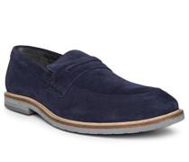 Schuhe Loafer Veloursleder dunkel