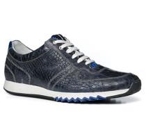 Herren Schuhe Sneaker Kalbleder rauchblau gemustert
