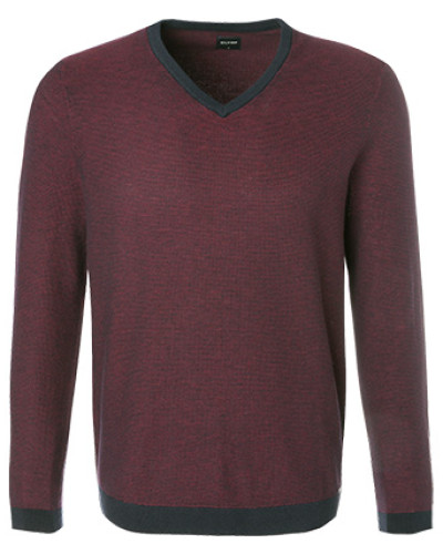 Pullover, Modern Fit, Wolle, bordeaux