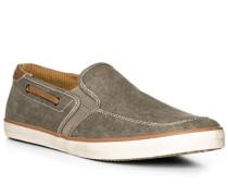 Herren Schuhe Slipper, Textil, grün