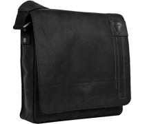 Herren  strellson Messenger Bag Rindleder schwarz