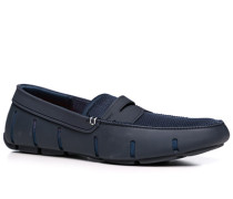 Herren Schuhe Loafer, Microfaser wasserabweisend, navy blau