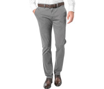 Herren Hose Chino Modern Fit Baumwoll-Stretch grau