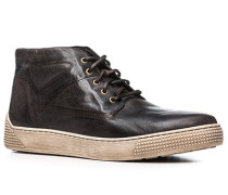 Herren Schuhe Sneaker Glattleder dunkelbraun