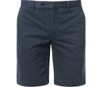 Herren Hose Shorts, Baumwolle, marine blau