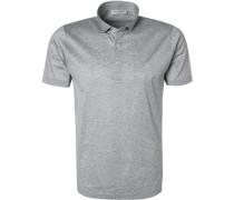 Polo-Shirt, Baumwoll-Jersey,  meliert