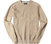 Herren Pullover Baumwolle beige