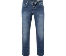 Jeans Modern Fit Baumwoll-Stretch navy