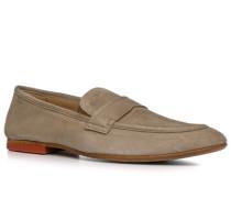 Herren Schuhe Loafers Veloursleder beige beige,beige