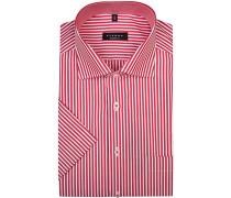 Herren Hemd, Modern Fit, Popeline, rot-weiß gestreift
