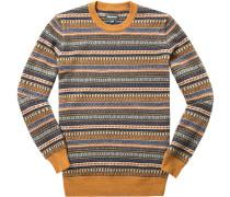 Herren Pullover Kaschmir-Schurwolle multicolor gemustert