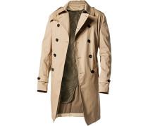 Herren Mantel Trenchcoat Baumwoll-Mix beige