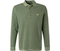 Polo-Shirt Baumwoll-Pique oliv
