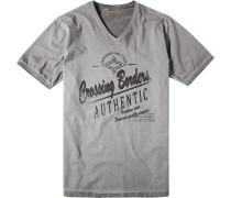 Herren T-Shirt Baumwolle grüngrau