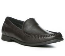 Herren Schuhe Slipper Leder braun