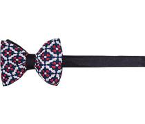 Herren Krawatte Schleife Seide gemustert