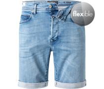 Jeansshorts, Baumwoll-Stretch Hyperflex, hell