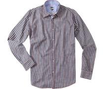 Herren Hemd Baumwolle navy-rot-weiß blau