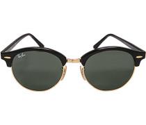Herren Brillen Sonnenbrille Clubround schwarz-gold
