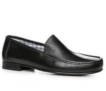Herren Schuhe Slipper Nappaleder schwarz schwarz,blau,grau