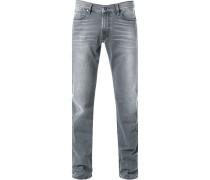 Herren Jeans, Baumwolle, steingrau