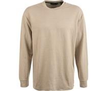 T-Shirt Longsleeve Leinen sand meliert