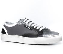 Herren Schuhe Sneakers Leder-Textil-Mix grau grau,weiß