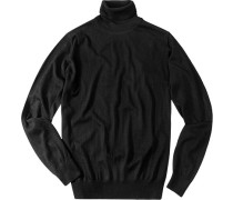 Herren Pullover Seiden-Kaschmir-Mix schwarz