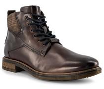 Schuhe Stiefeletten Leder dunkel