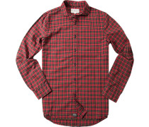 Herren Hemd, Oxford, rot-schwarz kariert