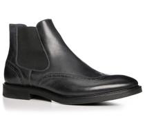 Herren Schuhe Chelsea Boots Kalbleder anthrazit grau,blau
