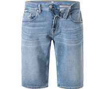 Jeansshorts Regular Fit Baumwoll-Stretch hell