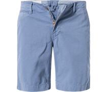 Herren Hose Shorts, Baumwolle, blau