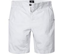 Herren Hose Shorts Regular Fit Baumwolle weiß