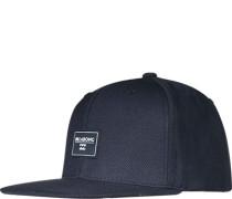 Herren Cap Microfaser-Wolle Navy blau