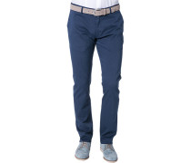 Herren Hose Chino Modern Fit Baumwoll-Stretch navy