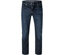 Jeans Slim Fit Baumwoll-Stretch dunkel