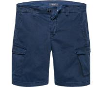 Herren Hose Cargo-Shorts Baumwoll-Stretch indigo