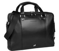 Herren Laptoptasche Leder schwarz