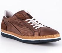 Schuhe Sneaker, Leder, marrone