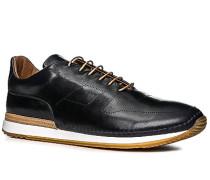 Herren Schuhe Sneaker Leder nachtblau blau,braun