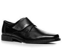 Herren Schuhe Slipper Glattleder schwarz