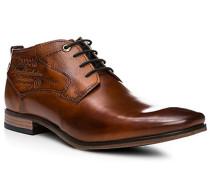 Herren Schuhe Stiefeletten Leder cognac braun